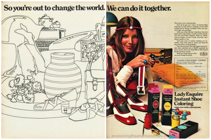 1970 Lady Esquire Shoe Coloring ad
