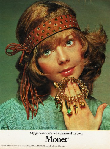 1970 Monet Ad Hippy Girl