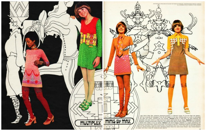 1970 Peter Max Fashion Seventeen Minis