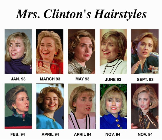 Clinton Hillary Hair