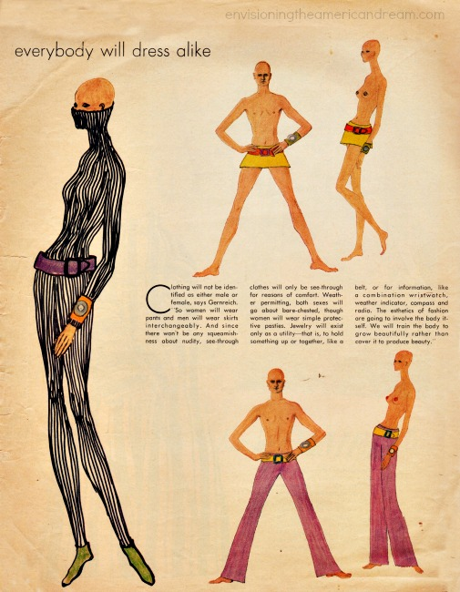 Fashion for the 70's  Rudi Gernreich Predictions from  Jan 1, 1970 Life Magazine