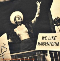 vintage maidenform bra ad woman campaigning