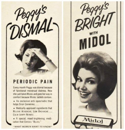 Vintage ad Midol Peggys Dismal 1966