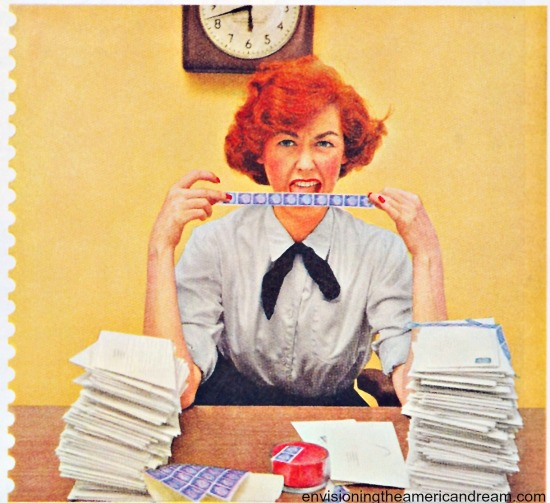 vintage secretary 1950s
