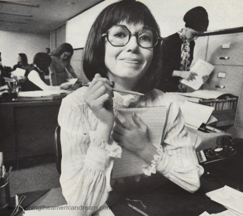 Vintage image secretary 1970s
