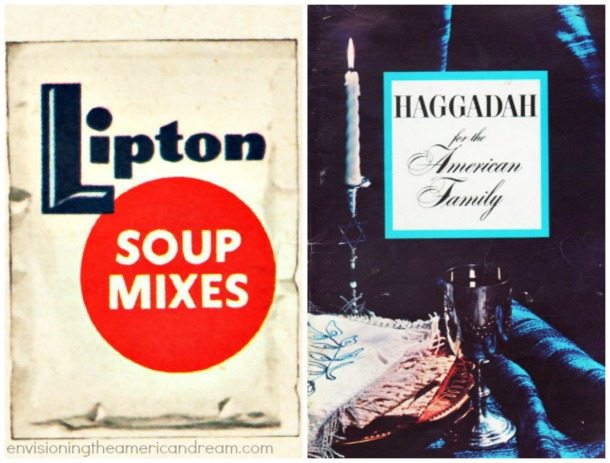 Passover Lipton Soup MixsallyedelsteinVintage Lipton Onion Soup Mix and Hagggadah for the American Family 1963photo of Betty Edelstein my Mother