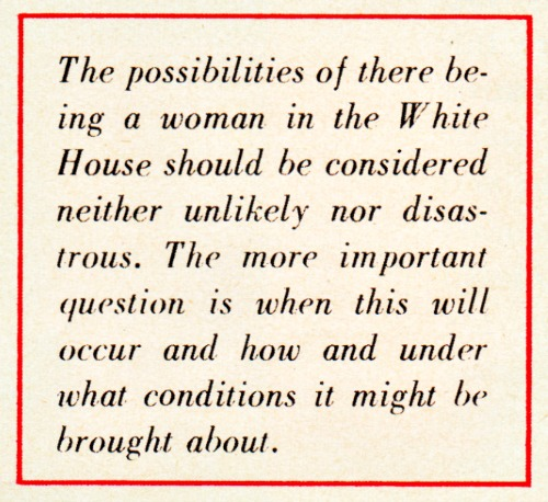 Text woman becoming President 1956