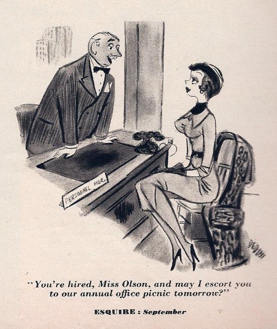 Sexual harassment cartoons office romance