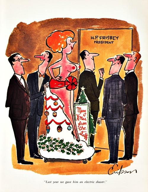 vintage sexist cartoon office