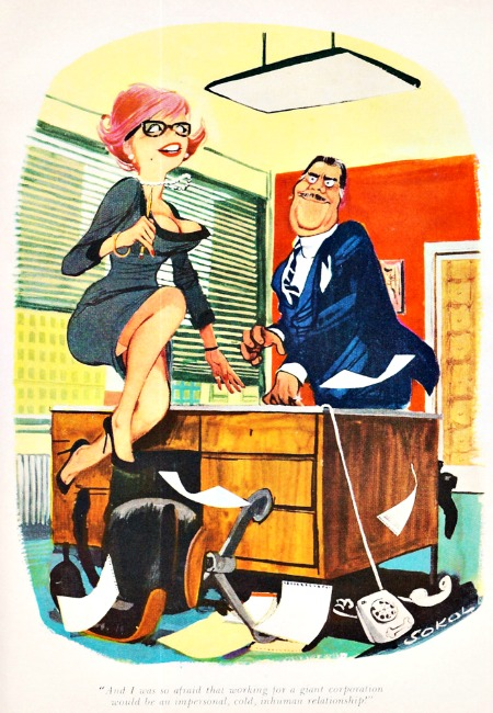 vintage cartoon sexist office secretary