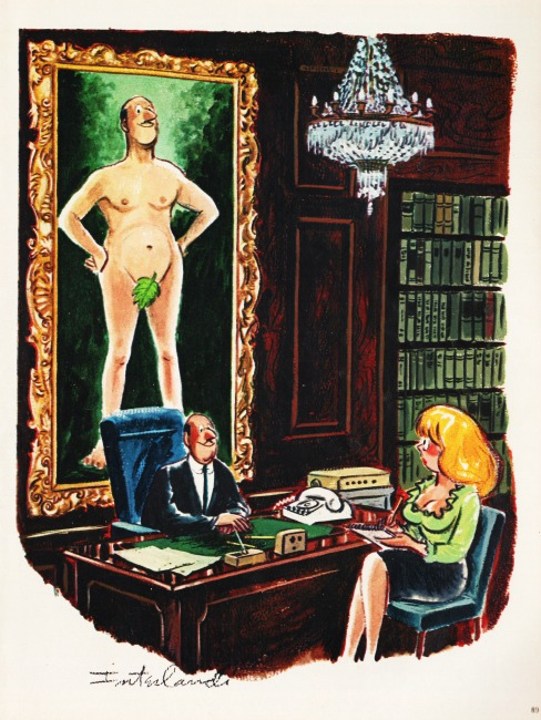 sexist office cartoon Playboy