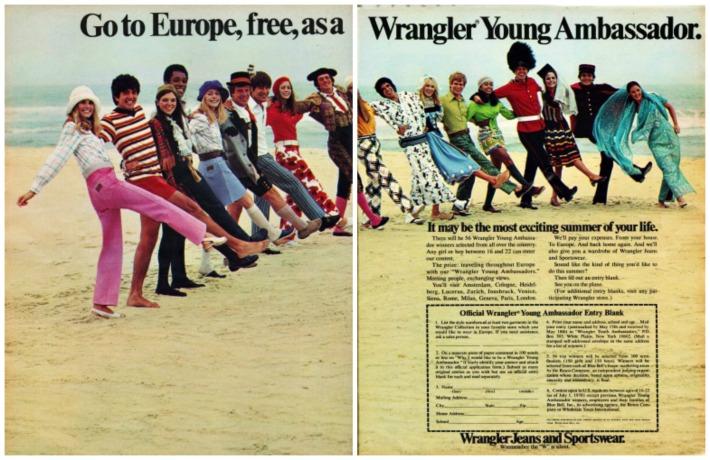 1970 Teen Traveler Wrangler jeans