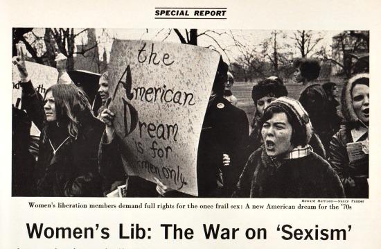 1970 Womens Lib Newsweek 1970