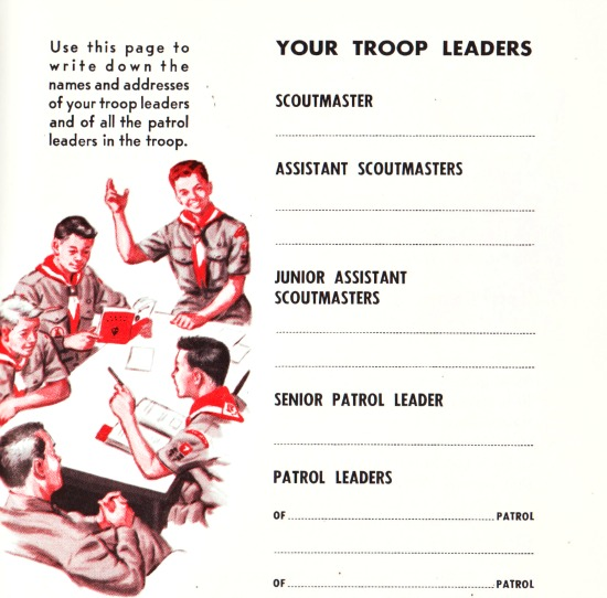 Boy Scouts Troop Leaders vintage illustration