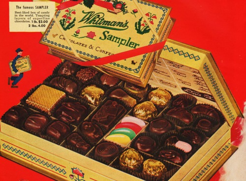 vintage images whitmans chocolates in a box