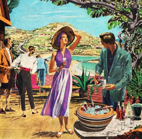 Vintage Coke ad Acapulco 1957