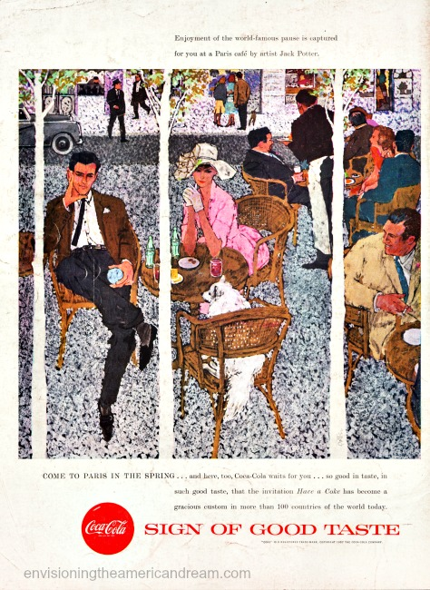 Vintage Coca Cola ad Paris Illustration Jack Potter