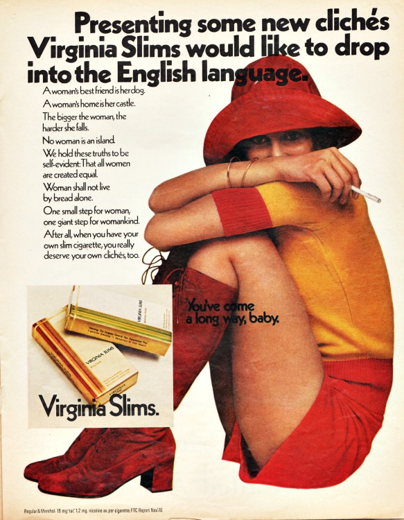 Vintage Virginia Slims Cigarettes Ad 1971