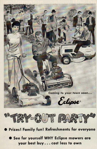 suburban Lawn Mower Party ad