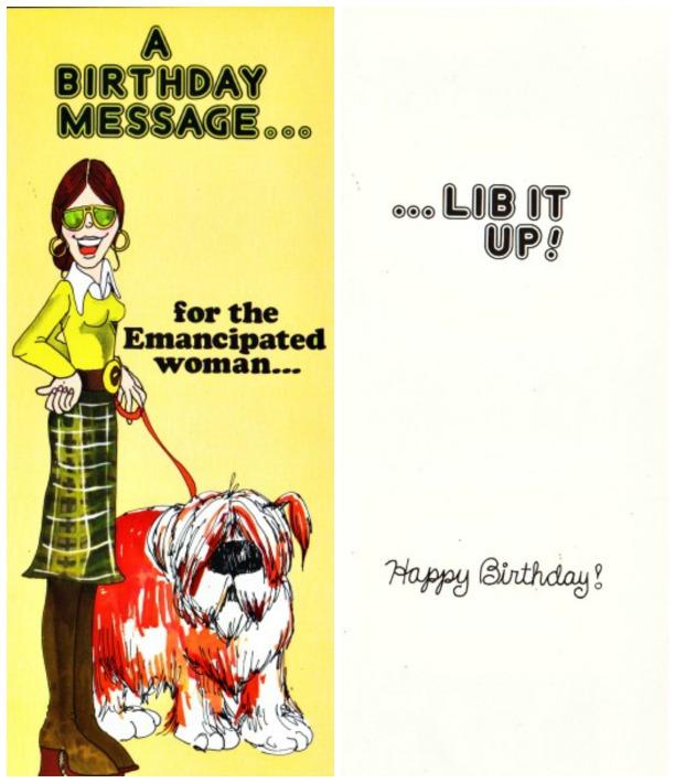 Womens Lib Card