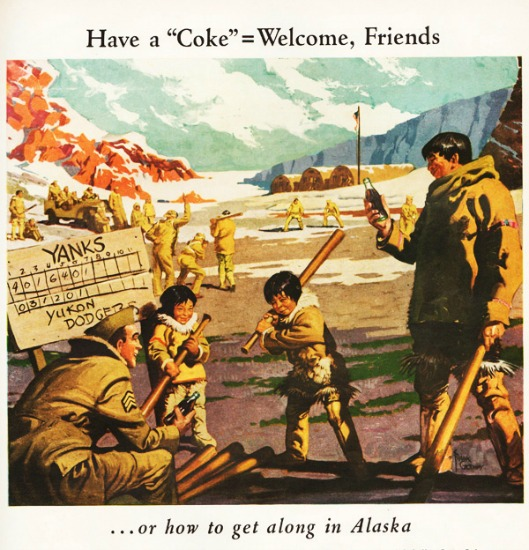 Vintage ad Coke in Alaska