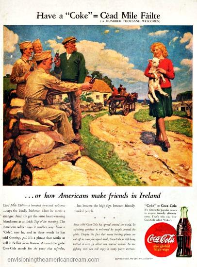 Vintage WWII Coke ad Ireland 44