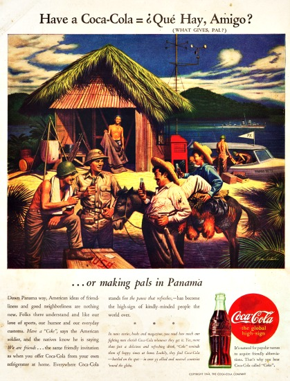 WWII ad Coke panama 1944