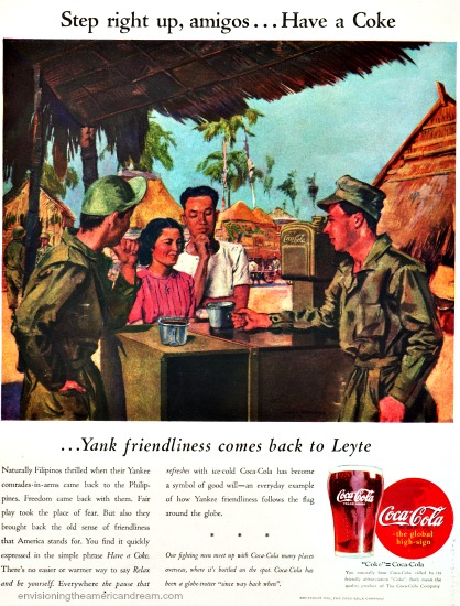 Vintage WWII  ad Coke 1945 Philipines
