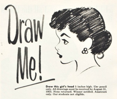 Vintage ad Art Draw me