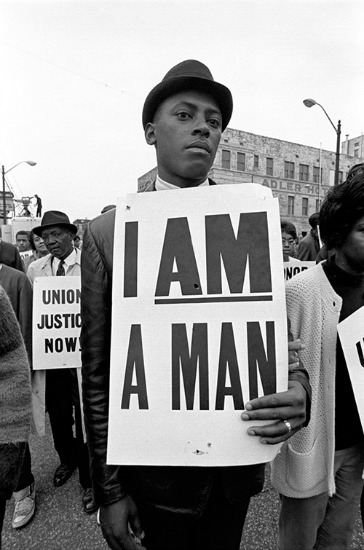 Vintagephoto civil rights I am a Man