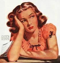 vintage illustration woman