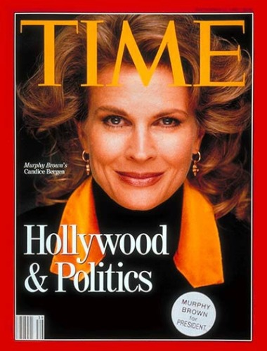 Candice Bergen as murphy brown Time  cover 1992
