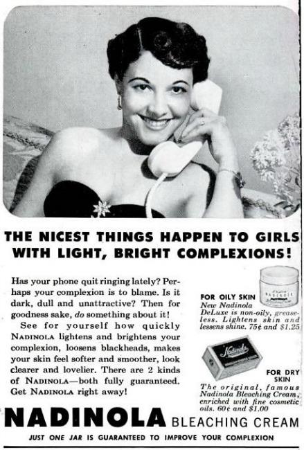 Vintage ad skin bleach Nadinola