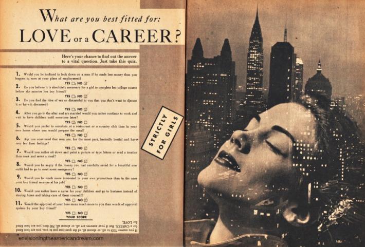 Test Love or Career 1953 Quiz