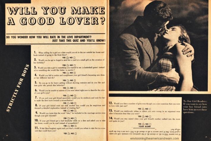 vintage test will you make good lover
