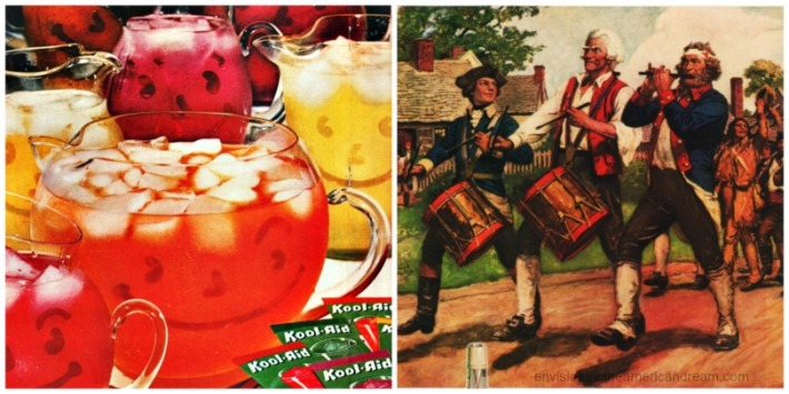 collage Kool Aid America Independence Day