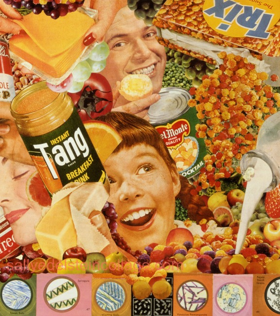 collage Sally Edelstein Better Living Through Chemistry appropriated images