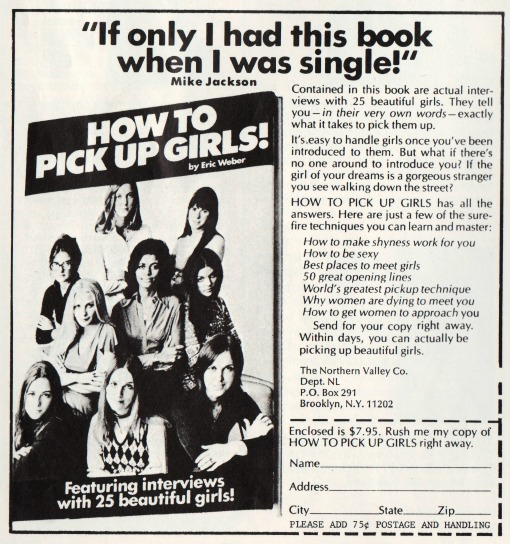 Book How to Pick Up Girls ad