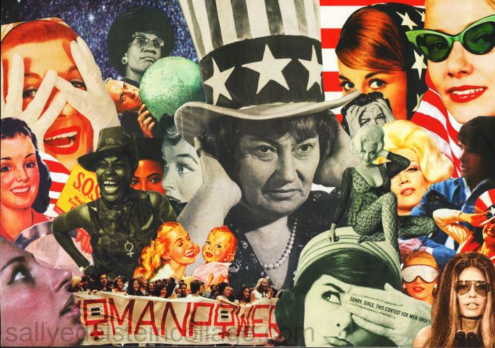 collage appropriated images vintage women