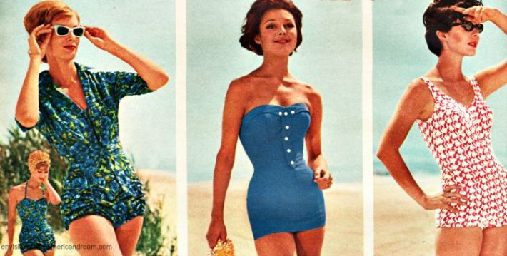 vintage summer swimsuit 1962