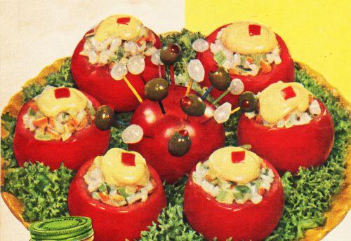 vintage photo salads