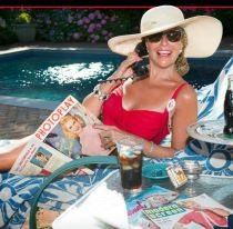 Sally Edelstein by the Pool