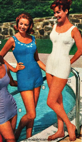 vintage summer swimsuits 1961