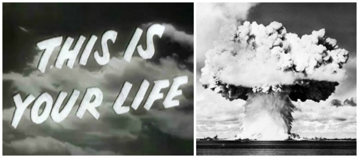 This is Your Life TV Show Logo and Atomic Bomb explosion