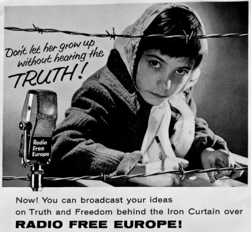 communism radio free europe girl barbed wire
