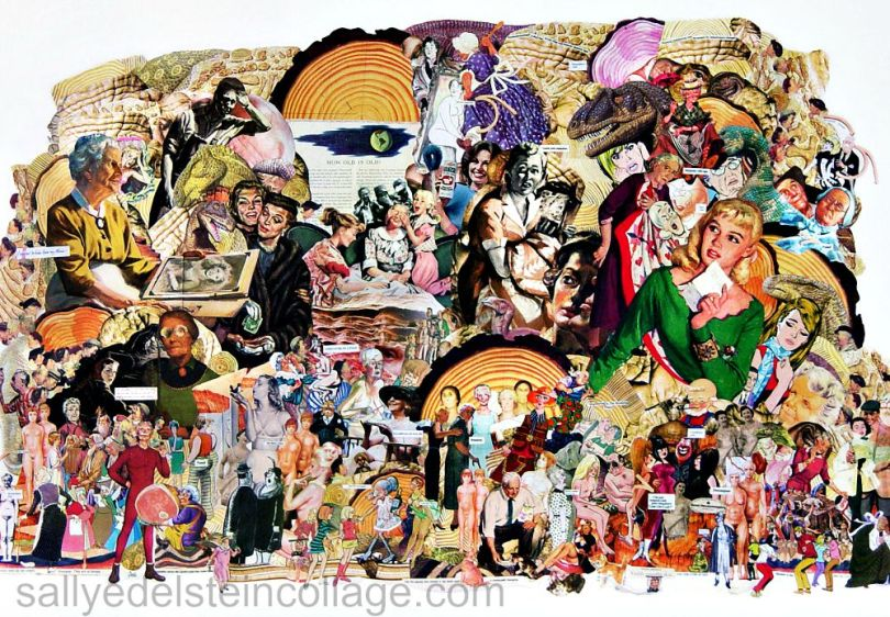 art collage by Sally Edelstein appropriated images of women