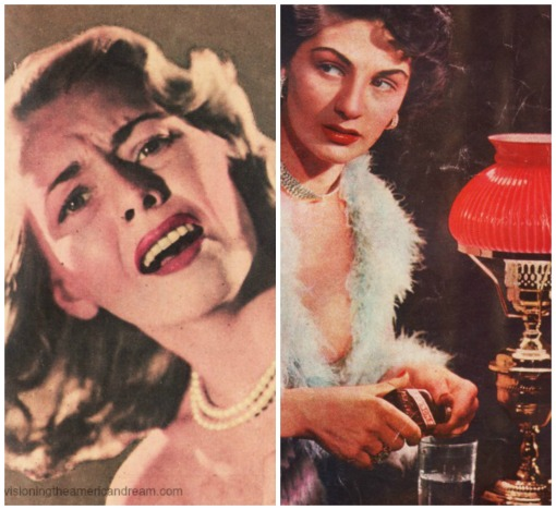vintage photos of women from pulp magazines