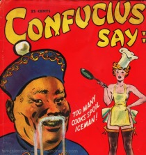 vintage cover Cartoon Book Confucius Say