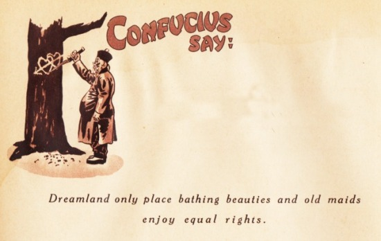 vintage cartoon confucious