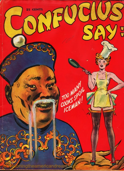 "Vintage Cartoon Book ""Confucius Say"" Cartoon illustration Confucius"